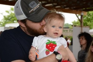 This Strawberry gets a Kiss from Daddy!