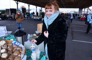 A chilly day at the farmers market