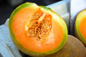 Sweet cantaloupe from Delvin Farms