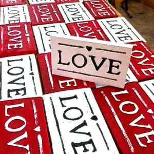 Handmade Love Signs from Tom the Furniture Guy