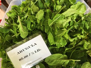 Locally grown Arugula from Paradise Produce