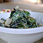 A lovely organic Kale Salad with Buttermilk Dressing