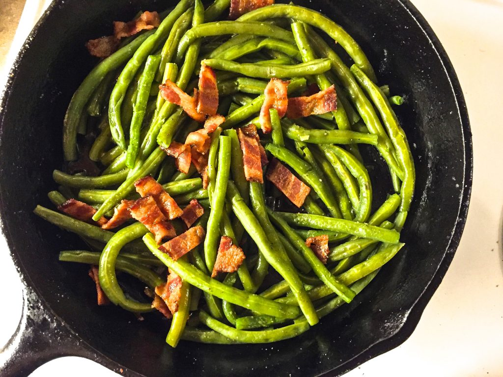 A southern favorite, Green Beans and Bacon