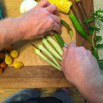 farm fresh okra