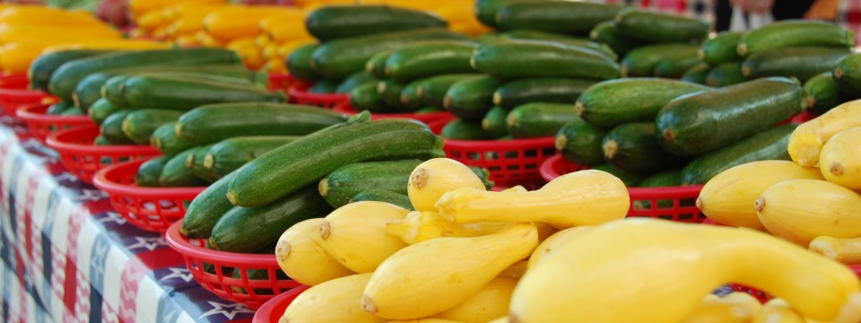 Fresh Vegetables, Squash and Zucchini