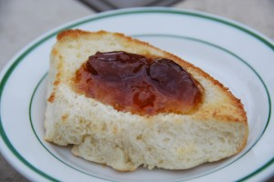 Fig Preserves on Sourdough Rolls are great for breakfast