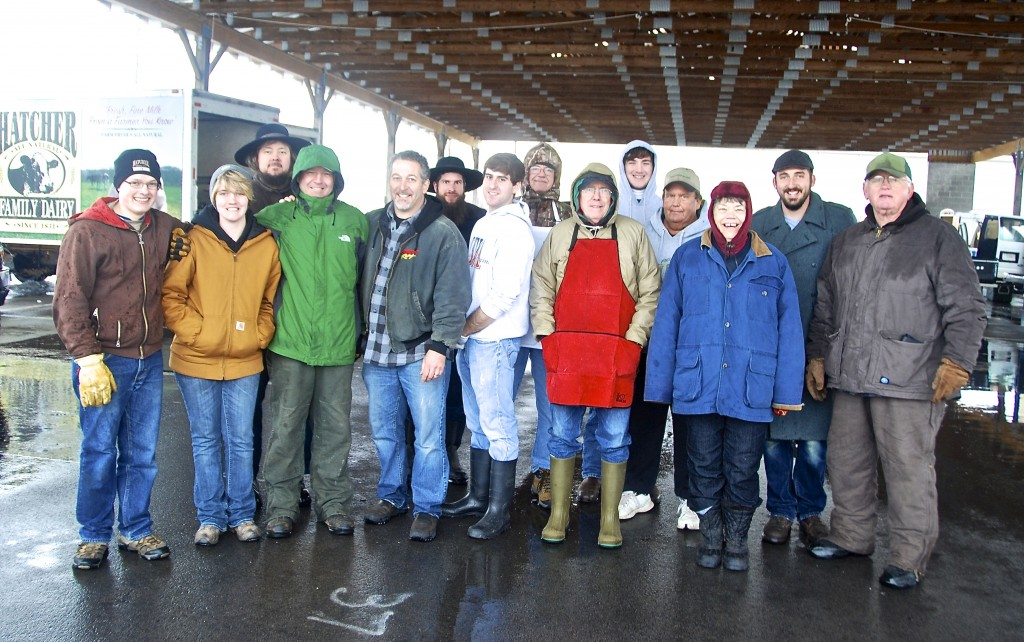 Our grateful farmers and bakers who braved bad icy roads to be at market for our market customers
