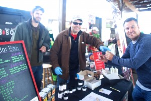 Customers enjoyed tasting chili from made with locally raised meats