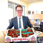 Greg Brown of Ford Lincoln of Franklin loves Tennessee Sweet Strawberries!