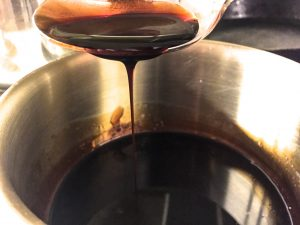 balsamic honey reduction
