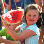 Kids Watermelon eating