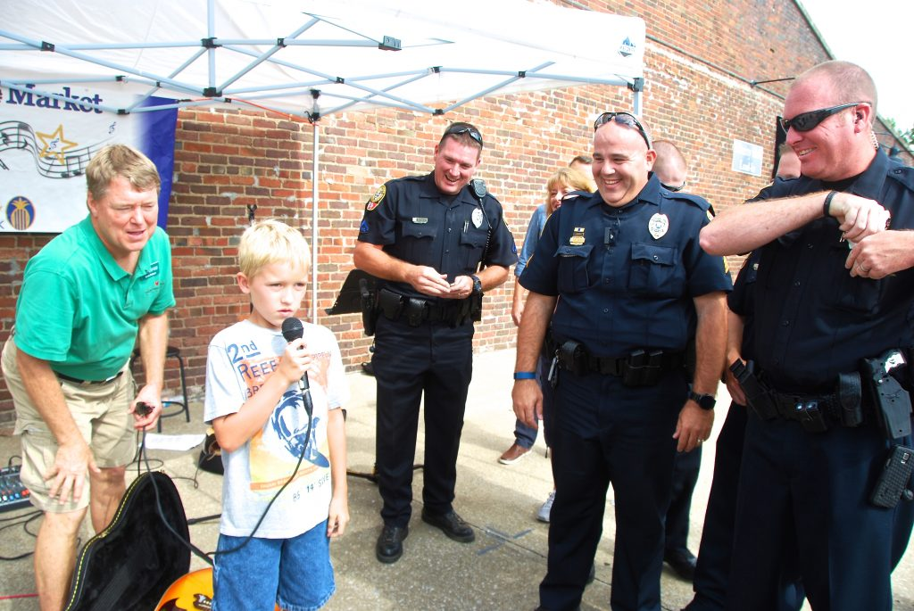 Young boy expresses his appreciation for our Franklin Police Officers
