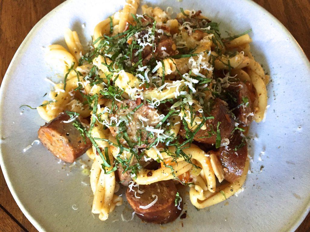 Tomato Sausage Pasta Recipe